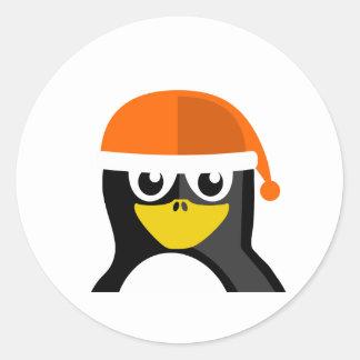 Orange Hat Penguin Stickers