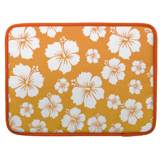 Orange Hawaii Flower Design MacBook Pro Sleeve
