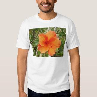 orange hawaii hibiscus plant t shirt