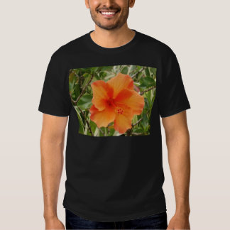 orange hawaii hibiscus plant t-shirt