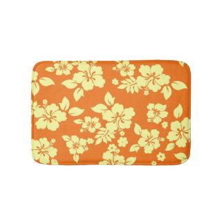 Orange Hawaiian Bathroom Mat