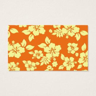 Orange Hawaiian Business Card