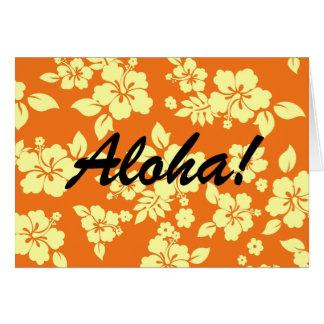 Orange Hawaiian Card
