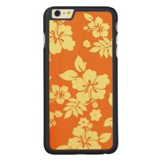 Orange Hawaiian Carved Maple iPhone 6 Plus Slim Case