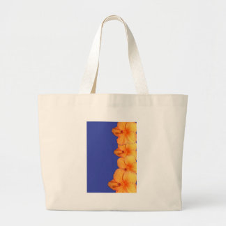 Orange Hawaiian Hibiscus Flowers Large Tote Bag