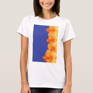 Orange Hawaiian Hibiscus Flowers T-Shirt