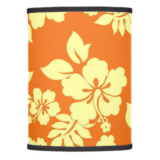 Orange Hawaiian Pattern Lamp Shade