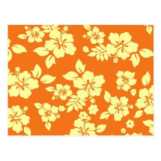 Orange Hawaiian Postcard