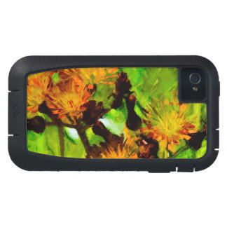 Orange Hawkweed Blossoms Abstract Impressionism iPhone4 Case