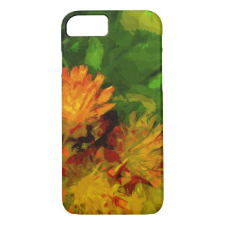 Orange Hawkweed Blossoms Abstract Impressionism iPhone 7 Case