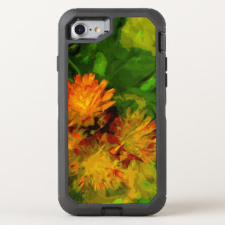 Orange Hawkweed Blossoms Abstract Impressionism OtterBox Defender iPhone 7 Case