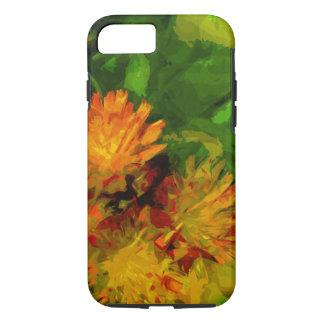 Orange Hawkweed Wildflower Abstract Impressionism iPhone 7 Case