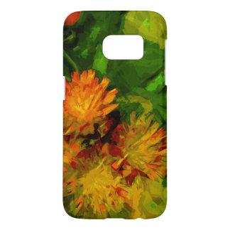 Orange Hawkweed Wildflower Abstract Impressionism Samsung Galaxy S7 Case