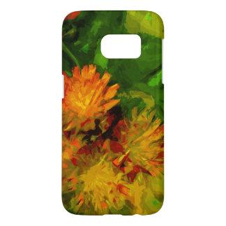 Orange Hawkweed Wildflower Blossoms Abstract Samsung Galaxy S7 Case