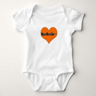 Orange Heart Baby Bodysuit