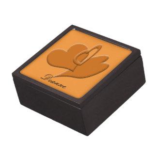 Orange Heart Connection Keepsake Box