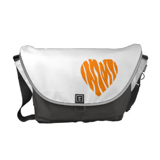 Orange Heart Courier Bag