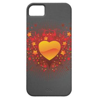 Orange Heart iPhone SE/5/5s Case
