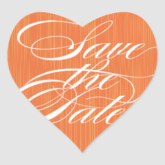 Orange Heart  |  Save the Date Envelope Seal Heart Sticker