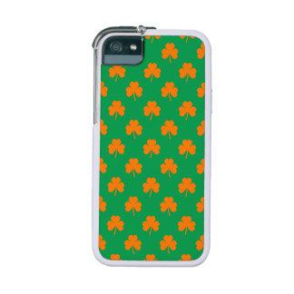 Orange Heart Shamrocks on Irish Green St.Patrick's Case For iPhone 5/5S