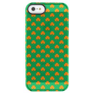 Orange Heart Shamrocks on Irish Green St.Patrick's Uncommon Clearly™ Deflector iPhone 5 Case