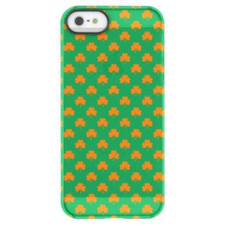 Orange Heart Shamrocks on Irish Green St.Patrick's Uncommon Permafrost® Deflector iPhone 5 Case