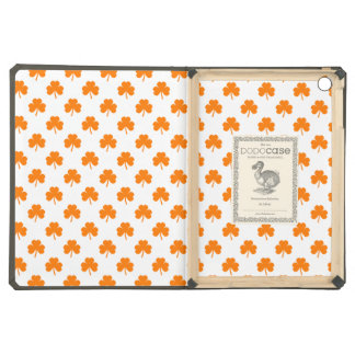 Orange Heart Shaped Clover on White St. Patrick's iPad Air Cover