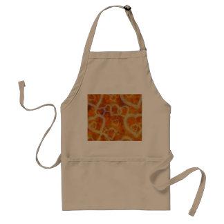 Orange Heart Template Texture Adult Apron