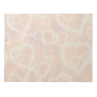 Orange Heart Template Texture Note Pad