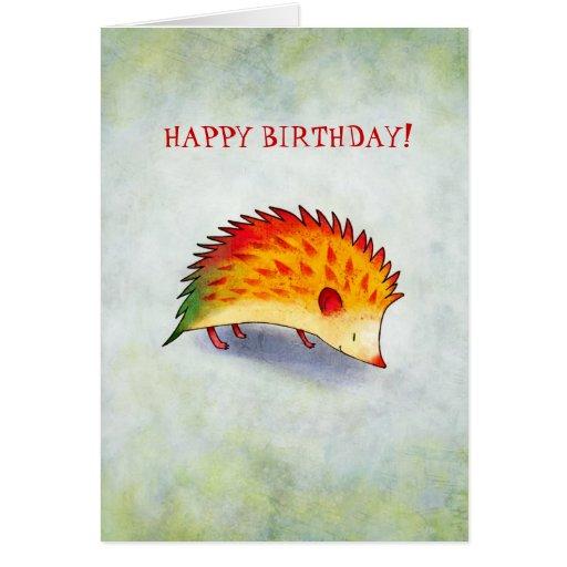 Orange Hedgehog Greeting Card(customizable) Card
