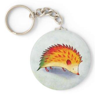 Orange Hedgehog Keychain keychain