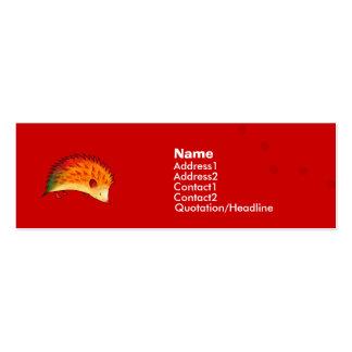 Orange Hedgehog Profile Card Business Card Template