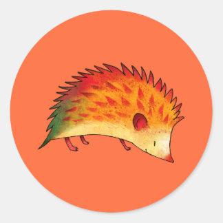 Orange Hedgehog Small Stickers