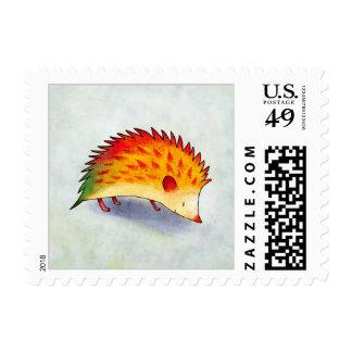 Orange Hedgehog Stamp