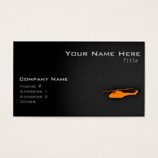 Orange Helicopter Business Card