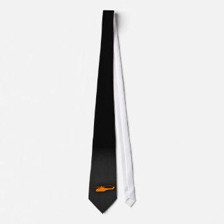 Orange Helicopter Tie