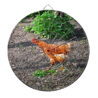 Orange hen dartboard