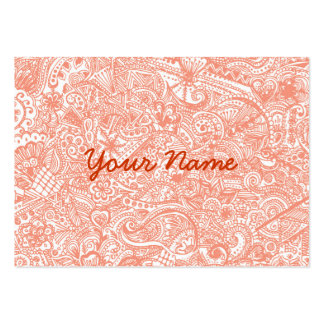 Orange Henna Business Card Business Cards