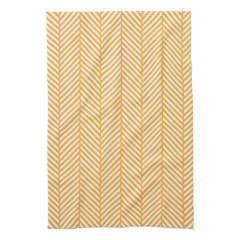 Orange Herringbone Kitchen Towels