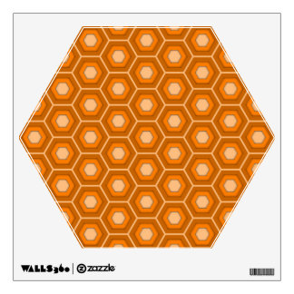 Orange Hex Tiled Wall Decal