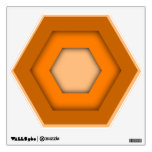 Orange Hex Wall Decal
