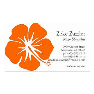 Orange Hibiscus Business Card