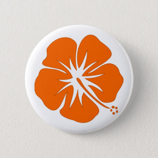 Orange Hibiscus Button