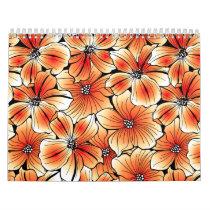Orange hibiscus calendar