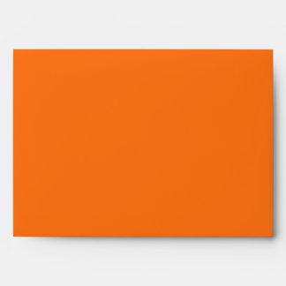 Orange hibiscus customizable envelopes