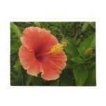 Orange Hibiscus Doormat