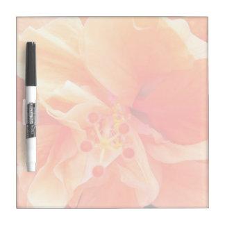 Orange Hibiscus Dry-Erase Whiteboard