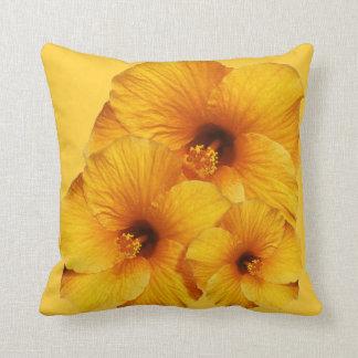 Orange Hibiscus Flower American MoJo Pillows