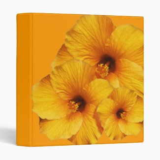 Orange Hibiscus Flower  Binder