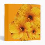 Orange Hibiscus Flower  Binder